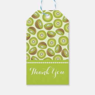 Étiquettes-cadeau Motif mignon de kiwi de coupe