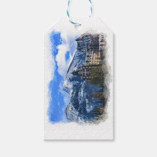 Étiquettes-cadeau Mt Rundle et hôtel célèbre, Banff, Alta, Canada