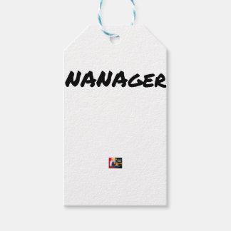 Étiquettes-cadeau NANAGER - Jeux de mots - Francois Ville