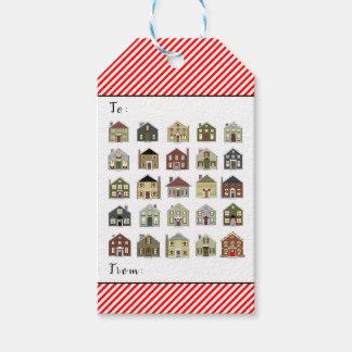 Étiquettes-cadeau Noël d'agent immobilier