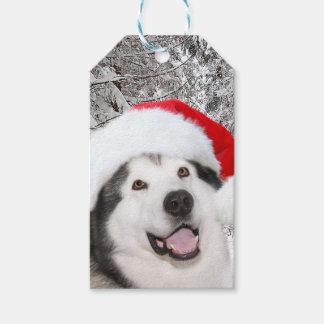 Étiquettes-cadeau Noël de Malamute d'Alaska