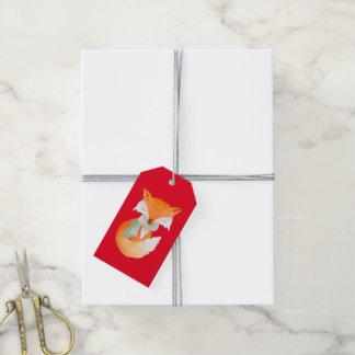 Étiquettes-cadeau Noël enveloppé vers le haut de l'étiquette de