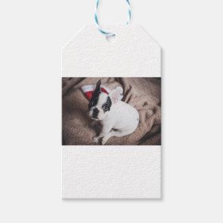 Étiquettes-cadeau Noël Frenchie