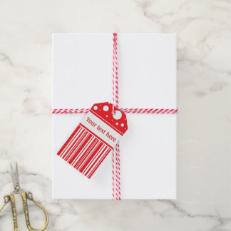 Étiquettes-cadeau Noël rouge et blanc