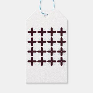 Étiquettes-cadeau Noir de croix sur le blanc