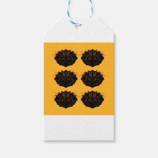 Étiquettes-cadeau Noir d'or d'éléments de conception/édition de