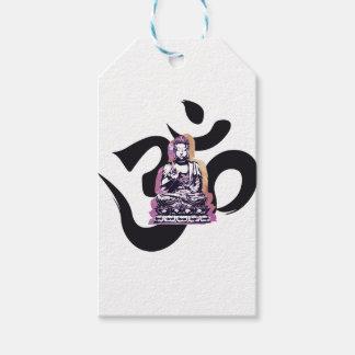 Étiquettes-cadeau Ohm de Buddah de coucher du soleil