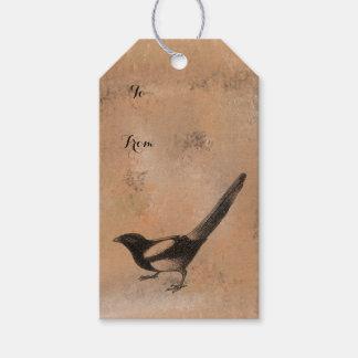 Étiquettes-cadeau Oiseau rustique antique