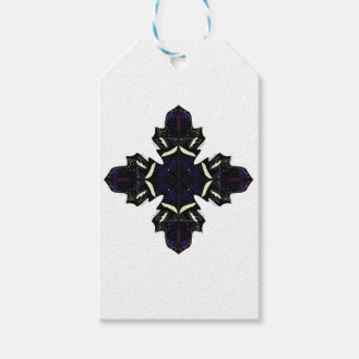 Étiquettes-cadeau Ornements blancs noirs