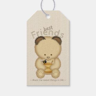 Étiquettes-cadeau Ours et abeille de miel mignons de meilleurs amis