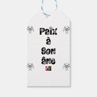 Étiquettes-cadeau PAIX À SON ÂNE - Jeux de Mots - Francois Ville