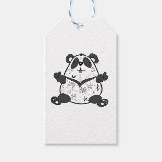 Étiquettes-cadeau Panda de tatouage