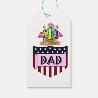 Étiquettes-cadeau Papa du numéro un