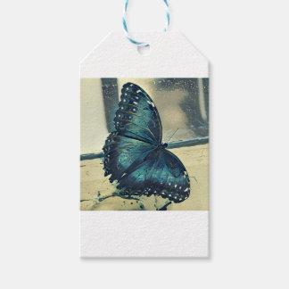 Étiquettes-cadeau Papillon bleu