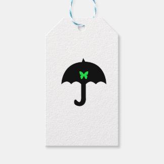 Étiquettes-cadeau Papillon dans le parapluie