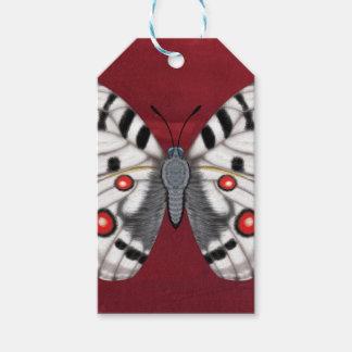 Étiquettes-cadeau Papillon d'Apollo