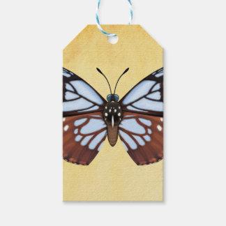 Étiquettes-cadeau Papillon de tigre de châtaigne