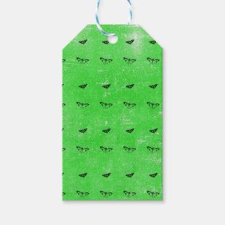 Étiquettes-cadeau Papillons verts