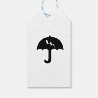 Étiquettes-cadeau parapluie et éclairage