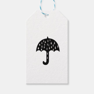 Étiquettes-cadeau Parapluie et pleuvoir