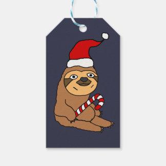 Étiquettes-cadeau Paresse mignonne dans la bande dessinée de Noël de