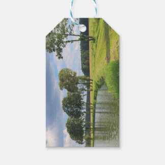 Étiquettes-cadeau Paysage avec des arbres