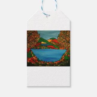 Étiquettes-cadeau Paysage d'automne
