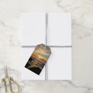 Étiquettes-cadeau Paysage marin du coucher du soleil I la Californie