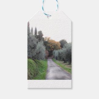 Étiquettes-cadeau Paysage rural pendant l'automne. La Toscane,