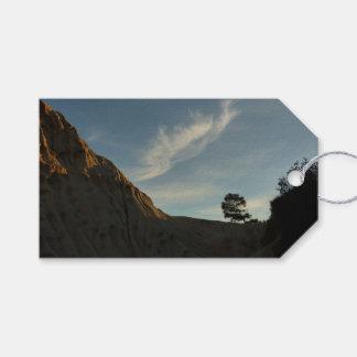 Étiquettes-cadeau Paysage solitaire de coucher du soleil de la