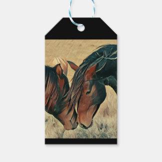 Étiquettes-cadeau Peignez les poneys