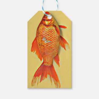Étiquettes-cadeau Peinture de poisson rouge