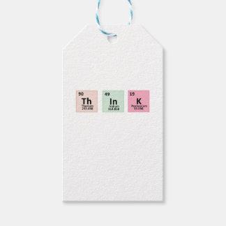 Étiquettes-cadeau Pensez - la chimie