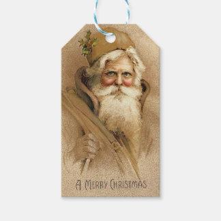 Étiquettes-cadeau Père Noël vintage