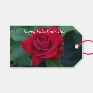Étiquettes-cadeau Photo de rose rouge