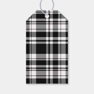 Étiquettes-cadeau Plaid noir et blanc