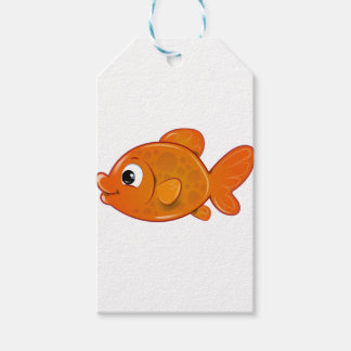 Étiquettes-cadeau Poisson rouge orange