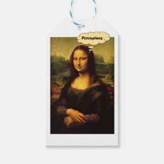 Étiquettes-cadeau Porcs-épics de Mona Lisa