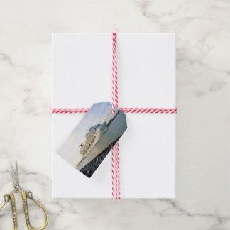Étiquettes-cadeau Portrait d'une coutume de bateau de croisière