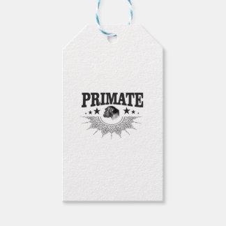 Étiquettes-cadeau primat de chimpanzé