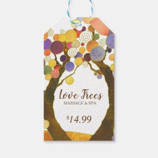 Étiquettes-cadeau Prix à payer rustique d'affaires d'arbres