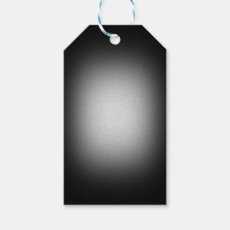 Étiquettes-cadeau Projecteur blanc sur le noir