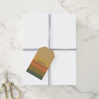 Étiquettes-cadeau Rayure vintage de palette d'amorces personnalisée