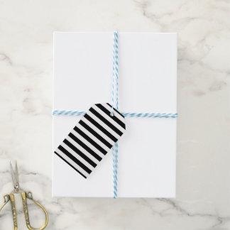 Étiquettes-cadeau Rayures horizontales noires
