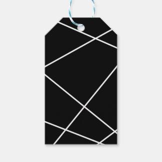 Étiquettes-cadeau Résumé géométrique - blanc et noir