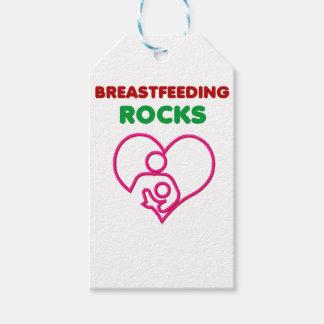 Étiquettes-cadeau roches d'allaitement au sein. Mère et cadeau de