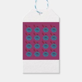 Étiquettes-cadeau Rose bleu d'éléments de conception