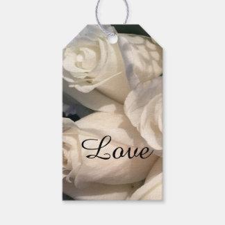 Étiquettes-cadeau Roses blancs