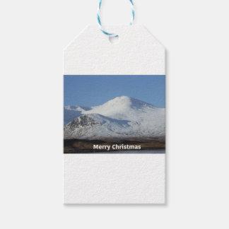 Étiquettes-cadeau scène d'hiver de Noël