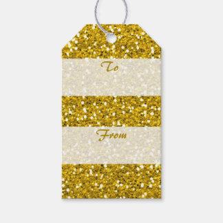 Étiquettes-cadeau Scintillement d'or à du Joyeux Noël